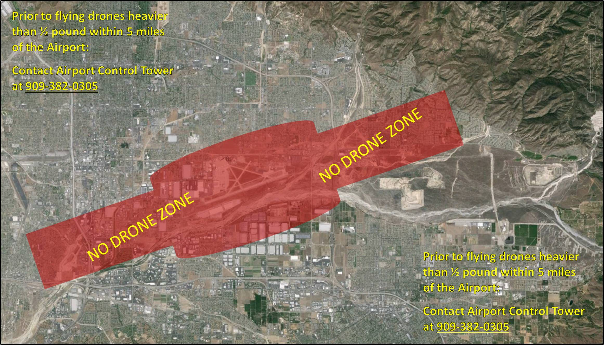 Air Traffic Control California Map.Drone Flight Information San Bernardino International Airport Sbd